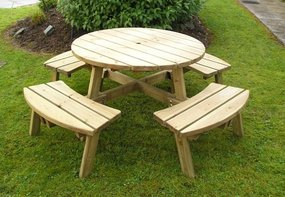 View the Athol 8 Seater Round Table online at Scotbark UK