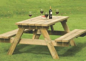 View the A-frame  Picnic Bench online at Scotbark UK